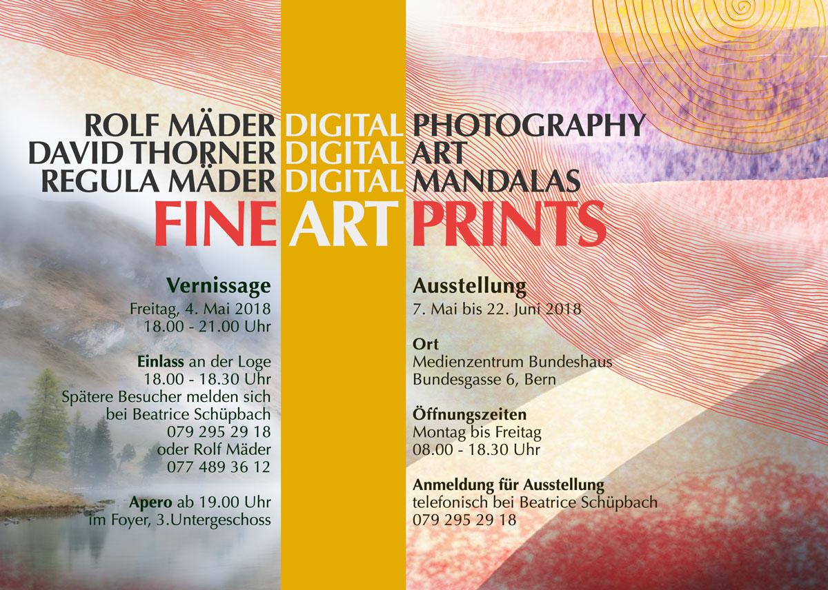 Ausstellung im Mediazentrum des Bundeshauses Bern